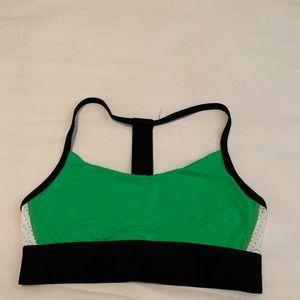 ALALA sports bra small black green white